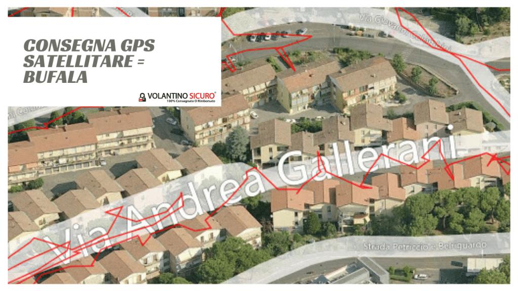 Consegna GPS satellitare bufala