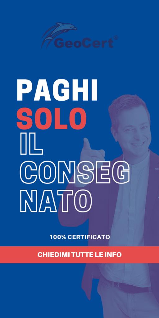 PAGHI SOLO IL CONSEGNATO 100% GEOCERT 1280