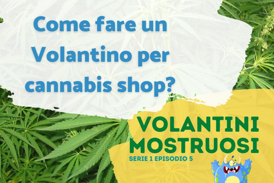 volantino per un cannabis shop